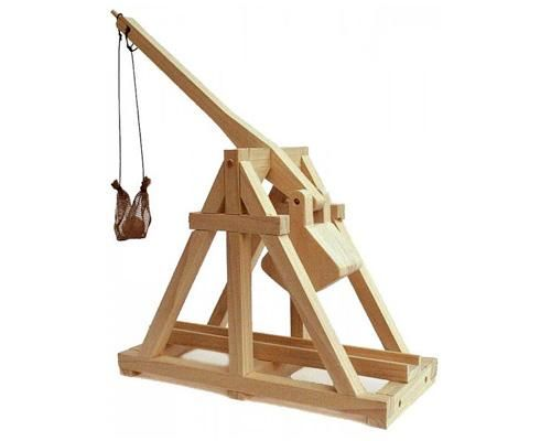 mini trebuchet made of wood