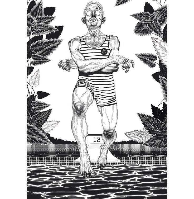 Мужские купальники снова в моде👙 #art  #illustration #drawings  #man #swimwear #swimsuit