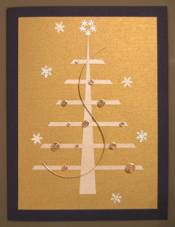 Quilled Stylized Christmas Tree card