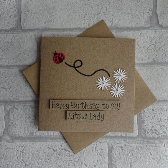 Ladybird birthday card Ladybug birthday card Little Lady
