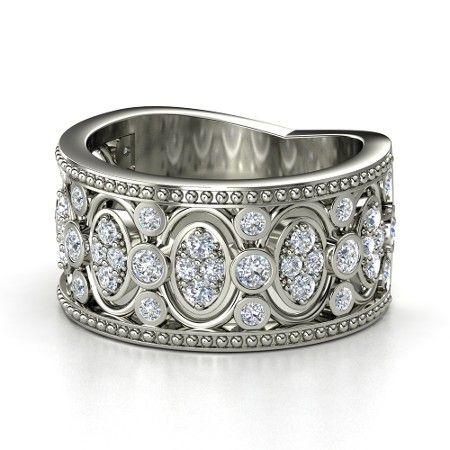Renaissance Diamond Wedding Band.                                                                                                                                                                                 More