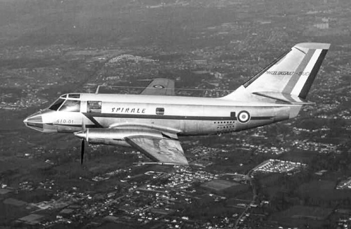 The Dassault MD.415 Communauté was a 1950s French twin-engined light turboprop transport monoplane built by Dassault Aviation. Only one prototype was built and flown.