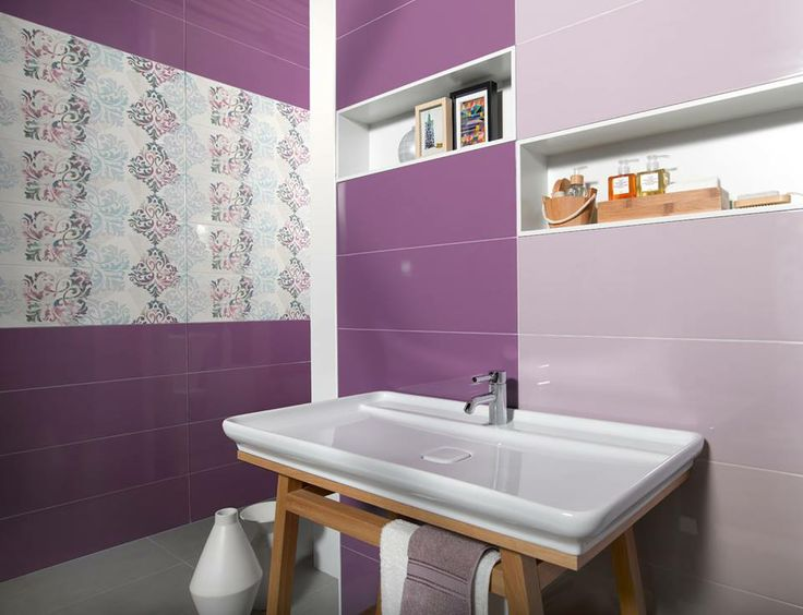 Such a romantic and sweet #bathroom! With the 7500 series. #interiordesign #tiles #ceramics
