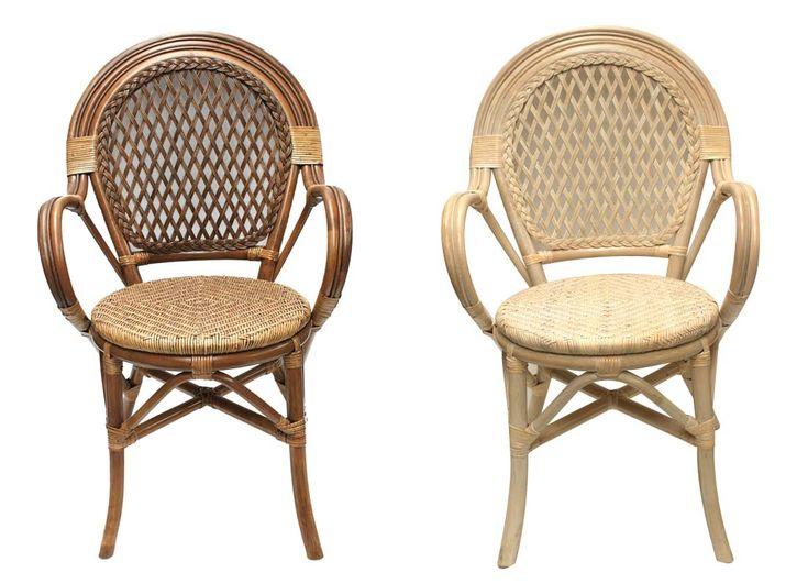 Imágenes de las sillas de rattan, modelo Asmara
