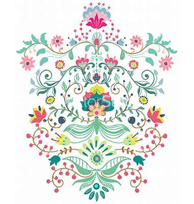 Beautiful floral ornament vector - by Elmiko on VectorStock®