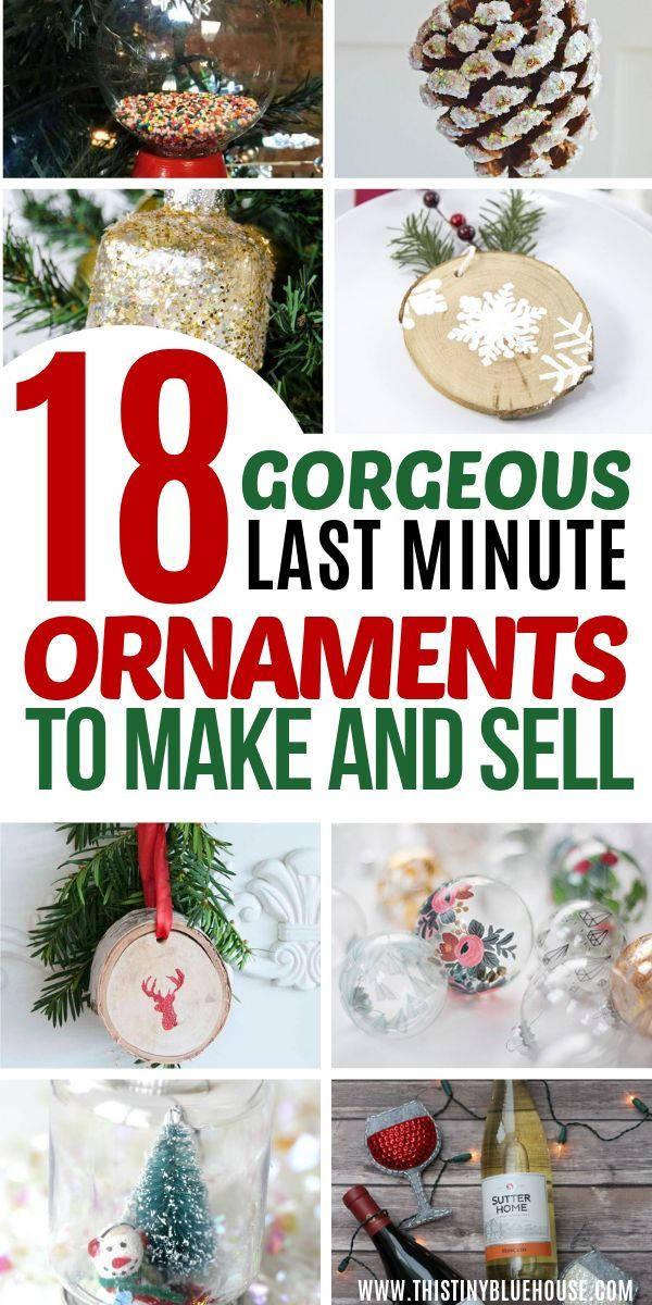 18 Best Easy Diy Christmas Ornaments To Make And Sell As A Side Hustle Christmas Ornaments To Make Diy Christmas Ornaments Easy Diy Christmas Ornaments