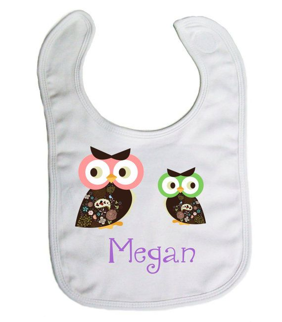 52 best personalized baby bibs images on pinterest personalized owls personalized baby bib baby shower gift by djammarmaternity negle Images