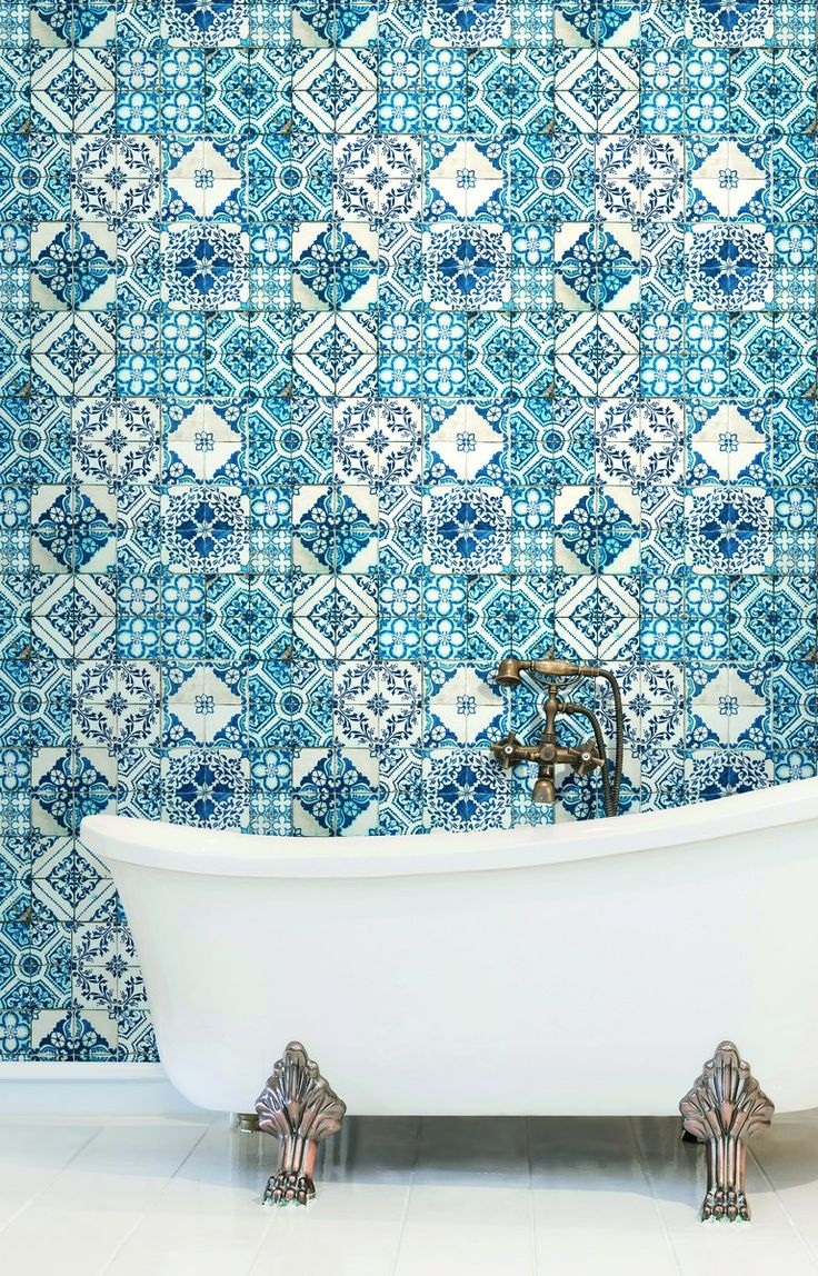 York Mediterranean Mosaic Tile Wallpaper: BATHE in Creativity and Bask in Glory!!!  www.SoliStone.com