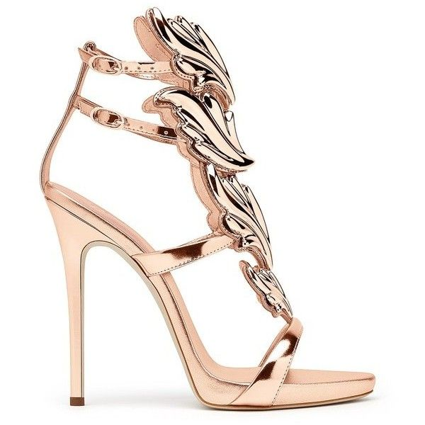 Giuseppe Zanotti Cruel ($1,595) ❤ liked on Polyvore featuring shoes, sandals, gold, high heels, ankle strap platform sandals, leather high heel sandals, ankle strap high heel sandals, ankle strap sandals and leather sole sandals