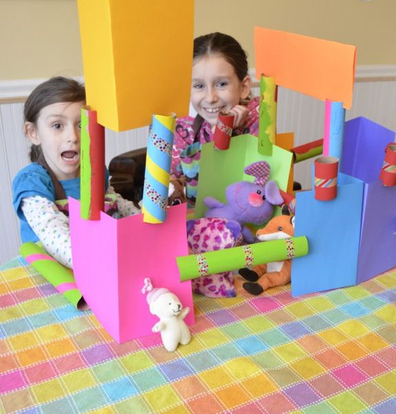 Simple Craft for Kids -- Cardboard Tube Construction Set - Inner Child Fun