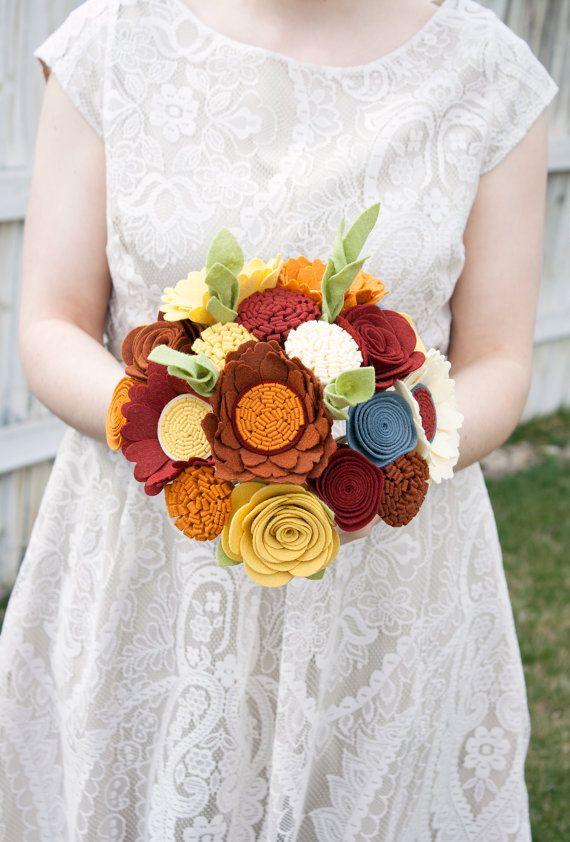 Felt Bouquet  Wedding Bouquet  Alternative by SugarSnapBoutique, $167.00