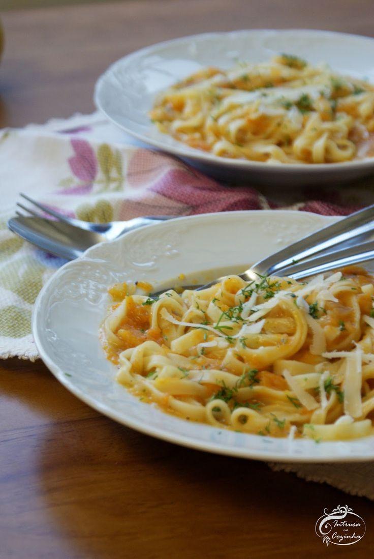 Intrusa na Cozinha: Massa Cremosa de Abóbora {Creamy Pumpkin Pasta}