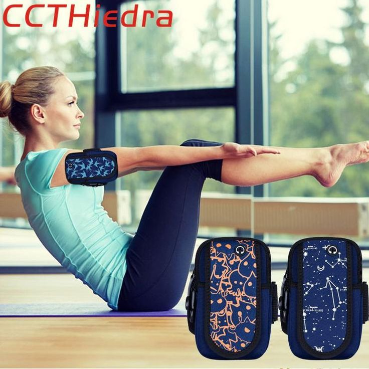 Health Is Enough And More CCTHiedra Brand Sports Mobile Phone Wallet Cases Headphone Hole Gym Yoga Running Zippered armband Pouch Bag For iPhone Android Regular price$25.79