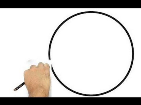 How to Draw a Perfect Circle Freehand - YouTube