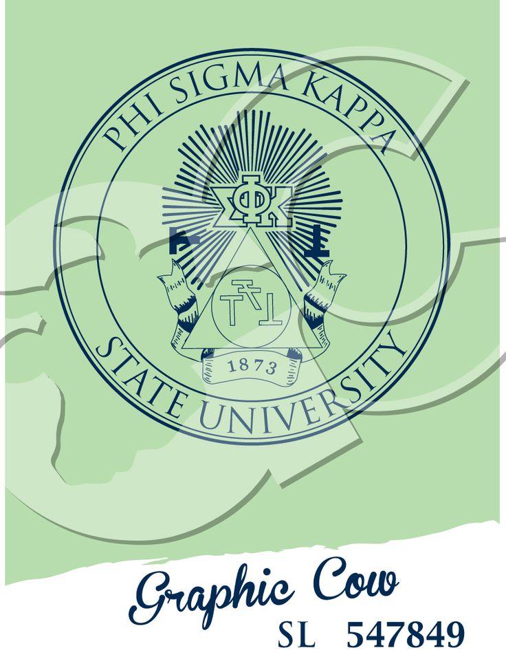 Phi Sigma Kappa Greek crest #grafcow