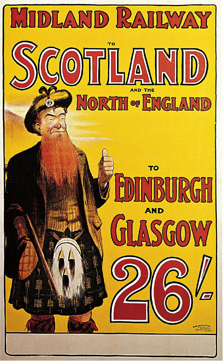 1904 Midland Railway to Scotland and the North of England Travel Advertisement Art Picture Poster