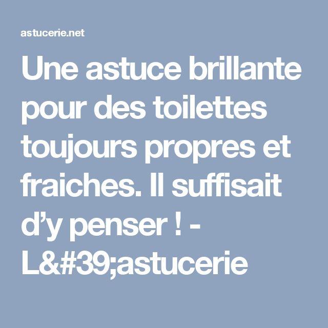 Une astuce brillante pour des toilettes toujours propres et fraiches. Il suffisait d'y penser ! - L'astucerie
