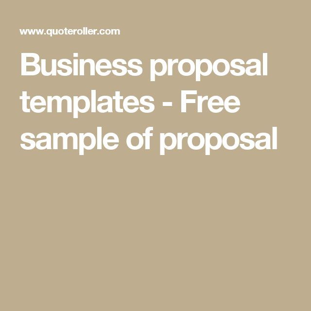 Best 25+ Sample of business proposal ideas on Pinterest - free business proposal template word