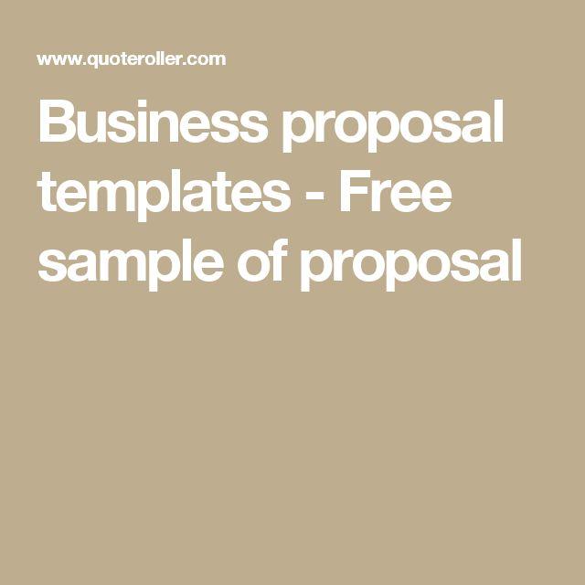 25+ melhores ideias de Amostra de proposta de negócio no Pinterest - free business proposal templates