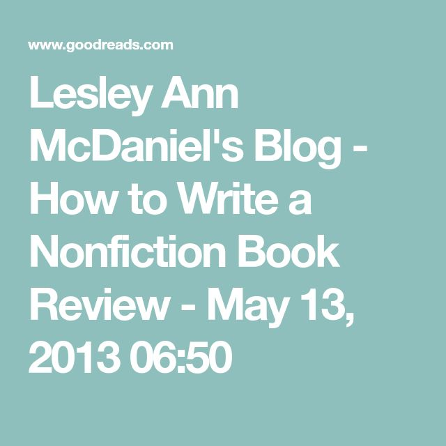 how to write a nonfiction book summary