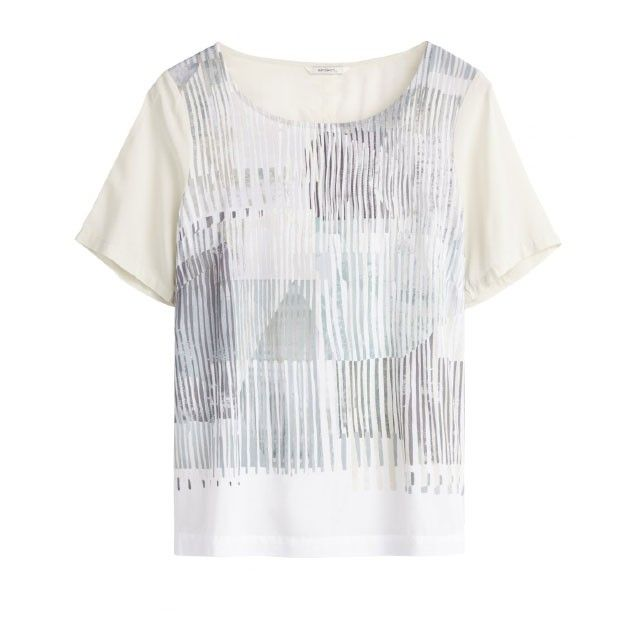 Sandwich Clothing Abstract Pattern Top Cream