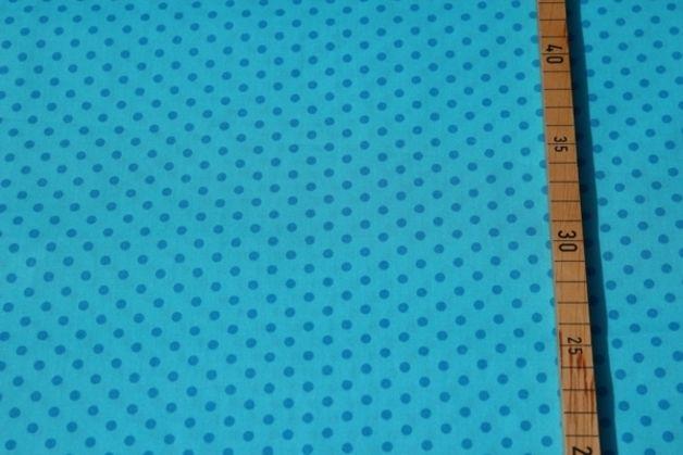 Stoff Punkte - 1m Pünktchen, türkis, Popeline - ein Designerstück von kidstixx-Stoffe bei DaWanda