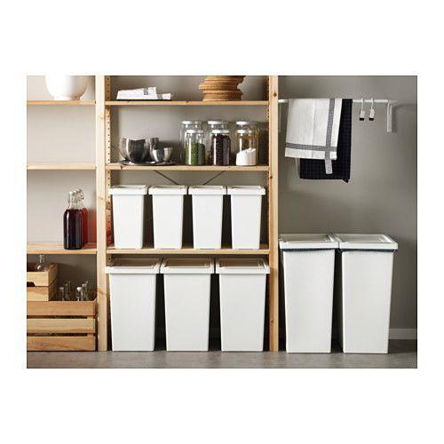 trash bin fo pullout cabinet - FILUR Bin with lid - 11 gallon - IKEA
