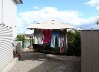 MEASURING YOUR CLOTHESLINE – measure from one side of your clothesline to the other along the arms on the diagonal from outer edge to outer edge. Electricity savings will be noticed because you no lon...