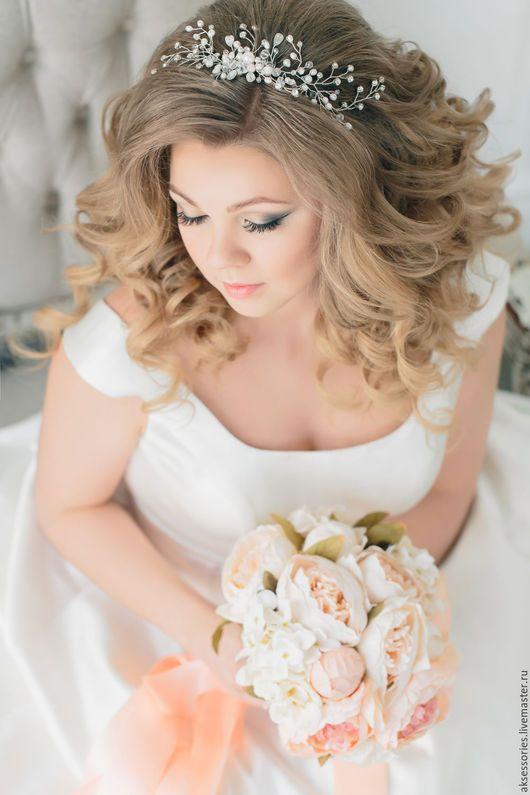 Wedding diadem / Свадебные украшения ручной работы. Ярмарка Мастеров - ручная работа. Купить Свадебный гребень свадебный аксессуар гребень свадебный для невесты. Handmade.