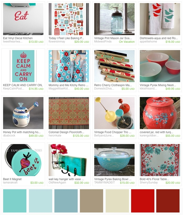 Ideas, Google Search, Kitchens Ideas, Red Kitchens, Turquoise Fun, Red