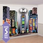 Love the simple graphics on these buildings... Times Square New Years Scene Setters - Party City