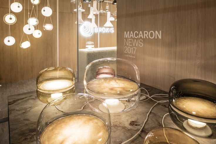 Brokis - lights - MACARON by Lucie Koldova - design - interior. Going strong at Salone del Mobile. Enjoy the latest pics here. Salone del Mobile.Milano Pav. 15, stand B30 #brokis #brokislighting #euroluce #salonedelmobile
