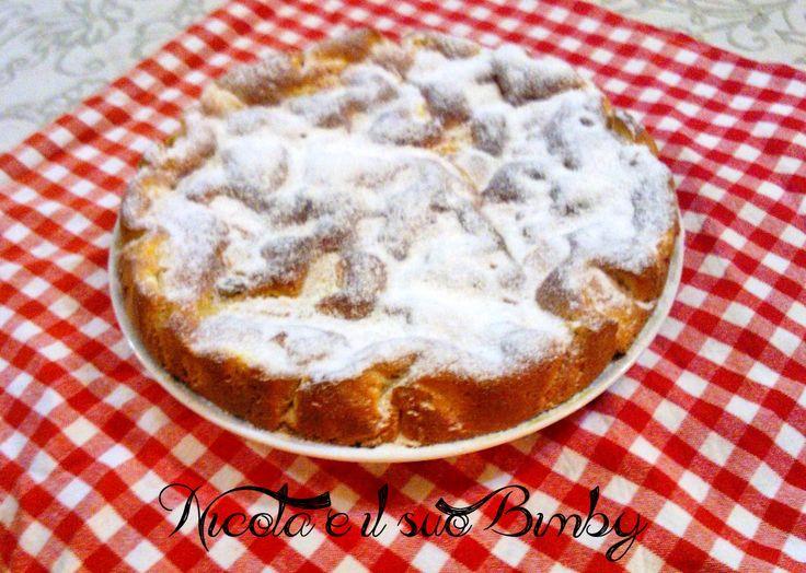 Torta di mele e uvetta con farina di Kamut e Farro