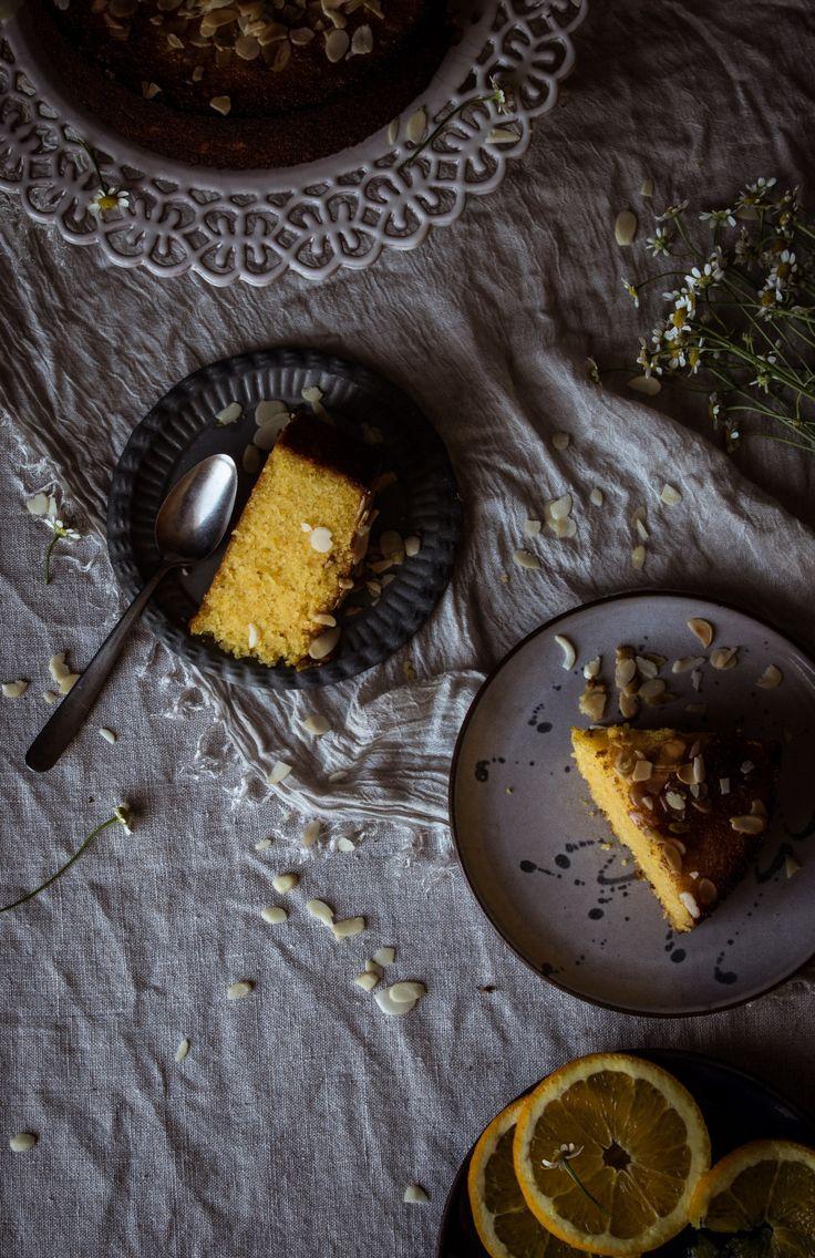 Bizcocho de Naranja, Almendra y Polenta (receta sin gluten)