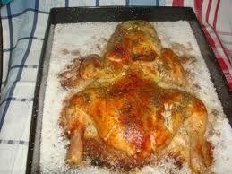 Pollo a la sal.