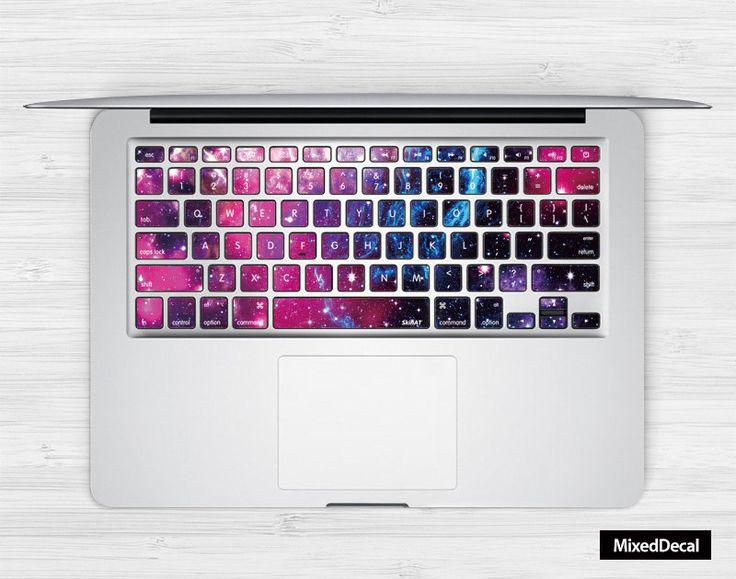 Sticker pour clavier : galaxie n°4