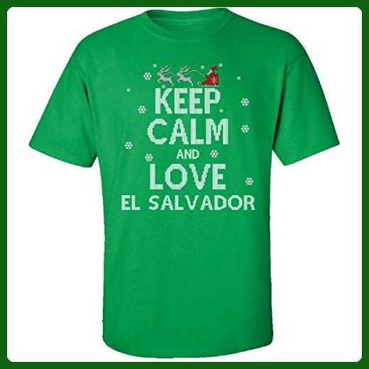 Keep Calm And Love El Salvador Country Ugly Christmas Sweater - Adult Shirt - Cities countries flags shirts (*Amazon Partner-Link)