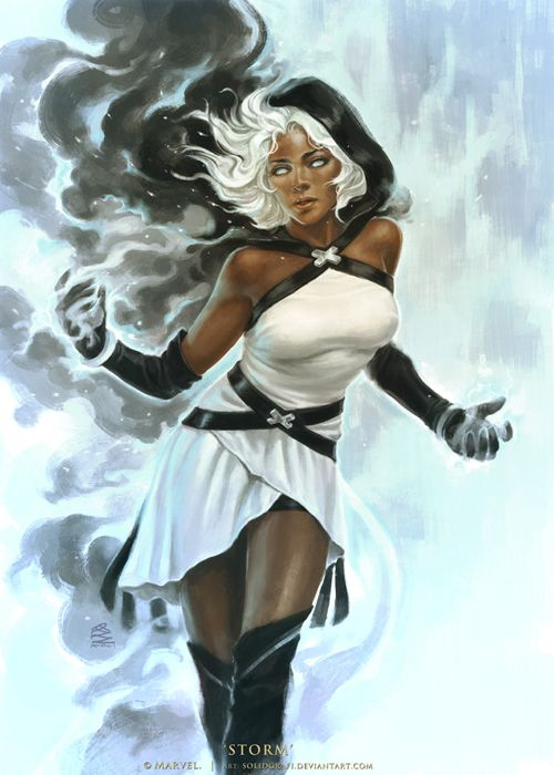 even in cartoon form, Black Women art stunning :)