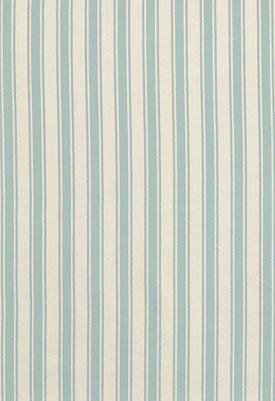 Wallpaper = stripe #Schumacher Nantucket Herringbone Stripe 62974 Ivory/Aqua; Guest Bedroom #1 Headboard, Upholstery and Window Treatment Fabric
