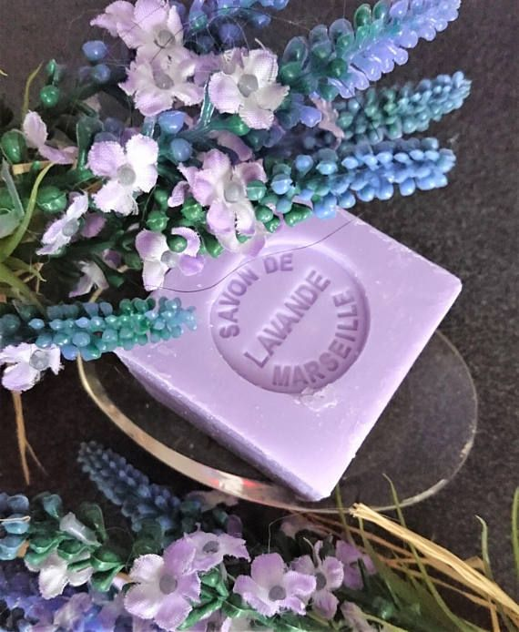French Lavender Soap  Mini Marseille Soap .100g