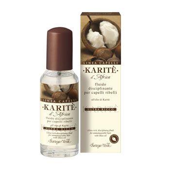 Karitè d'Africa - Fluido disciplinante per capelli ribelli all'olio di Karitè ultra ricco (50 ml)