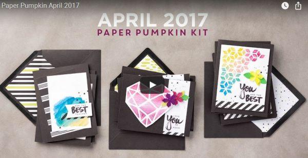 A sara thing paper pumpkin kit cards stampin up april 2017