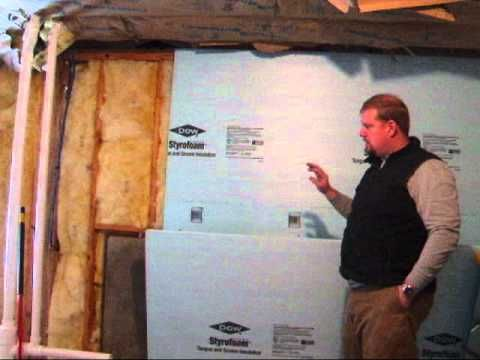 insulating basement walls basement insulation basement waterproofing
