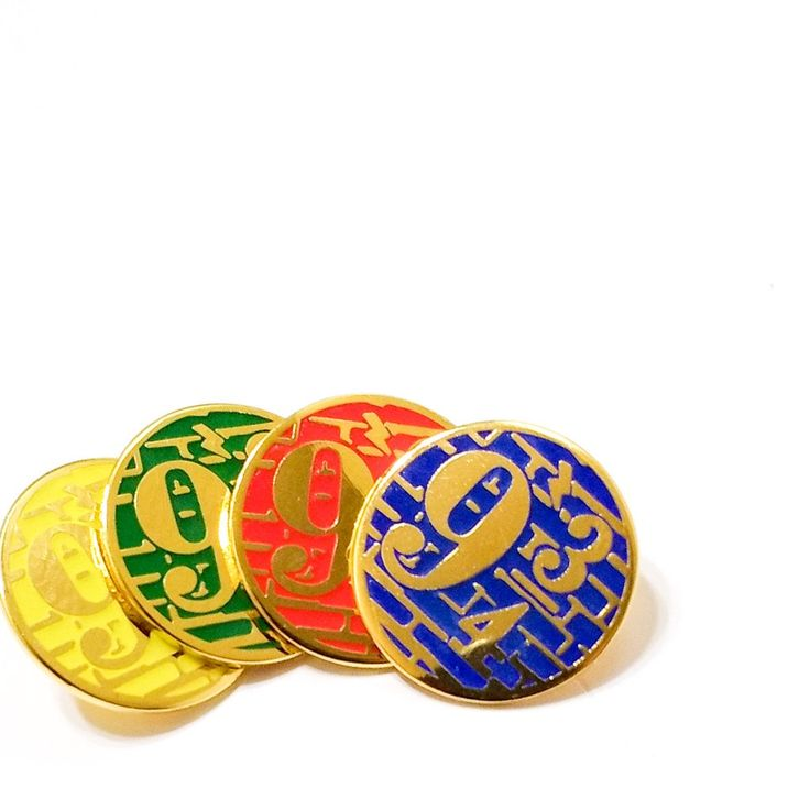 PLATFORM 9 3/4 Nine & Three Quarters enamel PIN / Harry Potter Hogwarts Train Movie Prop Ron Weasley / by BUNCEandBEAN