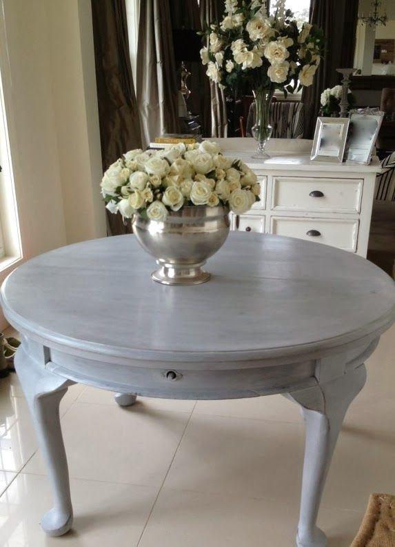 By LatreilledesignInteriorsblog  AUTENTICO VINTAGE CHALK PAINT  Painted In  Chalk Grey U0026 White ...