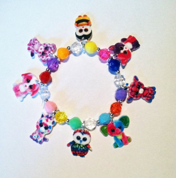 Beanie Boo Charm Bracelet 1 Beanie Boo by Made4UBySisters2 on Etsy
