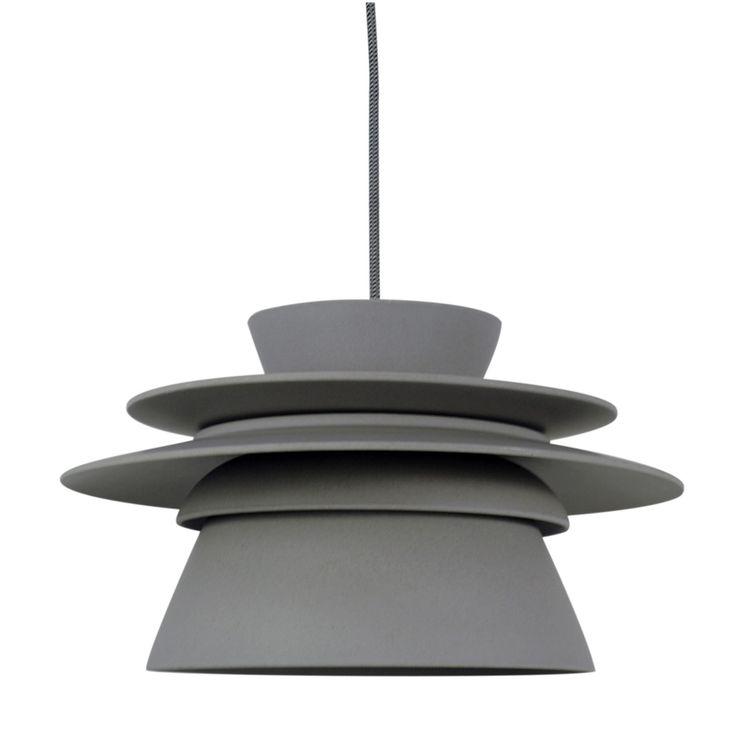 Zuperzozial Dish-Connect 5.0 Hanglamp Ø 35,5 cm - Stone Grey