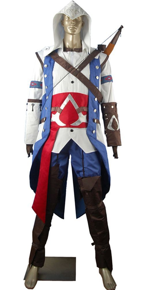 Costume Anime Assassins Creed Connor Kenway Cosplay Costume Pirate