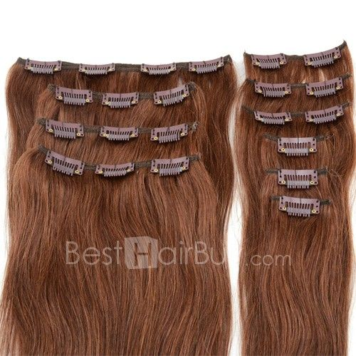 408 best besthairbuy images on pinterest html remy hair 24 inch 7pcs straight clip in remy hair extensions 80g 33 rich copper red pmusecretfo Choice Image