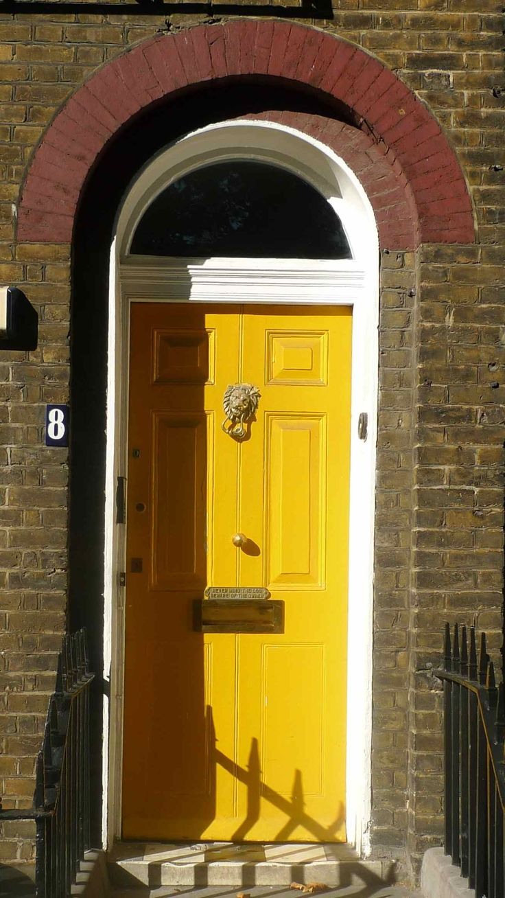 door fronts | The house owners on Duncan Terrace have all painted their front doors ...